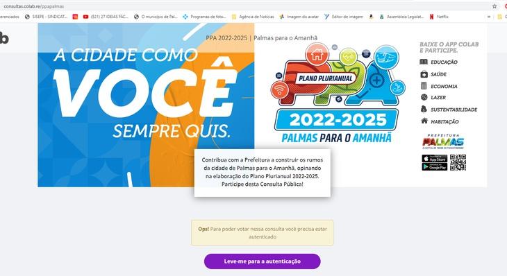 PPA 2022-2025: palmenses definirão ações da gestão municipal para os próximos quatro anos